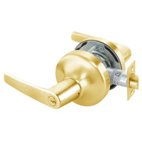 MO4721LN-605 Yale 4700LN Series Double Cylinder Communicating Cylindrical Lock with Monroe Lever in Bright Brass