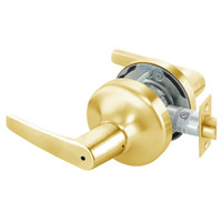 MO4702LN-605 Yale 4700LN Series Non Keyed Privacy Bedroom or Bath Cylindrical Lock with Monroe Lever in Bright Brass