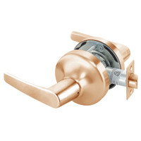 MO4703LN-612 Yale 4700LN Series Non Keyed Patio or Privacy Cylindrical Lock with Monroe Lever in Satin Bronze