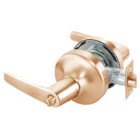 MO4725LN-612 Yale 4700LN Series Non Keyed Privacy Cylindrical Lock with Monroe Lever in Satin Bronze