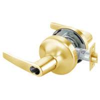 B-MO4706LN-605 Yale 4700LN Series Single Cylinder Service Station Cylindrical Lock with Monroe Lever Prepped for SFIC in Bright Brass