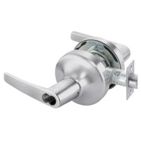 B-MO4707LN-626 Yale 4700LN Series Single Cylinder Entry Cylindrical Lock with Monroe Lever Prepped for SFIC in Satin Chrome