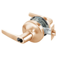 B-MO4707LN-612 Yale 4700LN Series Single Cylinder Entry Cylindrical Lock with Monroe Lever Prepped for SFIC in Satin Bronze