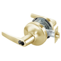 B-MO4708LN-606 Yale 4700LN Series Single Cylinder Classroom Cylindrical Lock with Monroe Lever Prepped for SFIC in Satin Brass