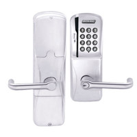 AD200-MS-40-MSK-TLR-PD-625 Schlage Privacy Mortise Magnetic Stripe Keypad Lock with Tubular Lever in Bright Chrome