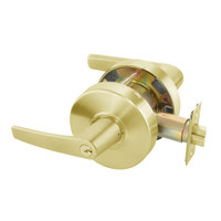 MO4605LN-605 Yale 4600LN Series Single Cylinder Storeroom or Closet Cylindrical Lock with Monroe Lever in Bright Brass