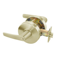 MO4605LN-606 Yale 4600LN Series Single Cylinder Storeroom or Closet Cylindrical Lock with Monroe Lever in Satin Brass