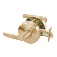 MO4605LN-612 Yale 4600LN Series Single Cylinder Storeroom or Closet Cylindrical Lock with Monroe Lever in Satin Bronze