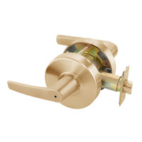 MO4602LN-612 Yale 4600LN Series Non Keyed Privacy Bedroom or Bath Cylindrical Lock with Monroe Lever in Satin Bronze