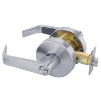 AU4605LN-626 Yale 4600LN Series Single Cylinder Storeroom or Closet Cylindrical Lock with Augusta Lever in Satin Chrome