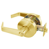AU4608LN-605 Yale 4600LN Series Single Cylinder Classroom Cylindrical Lock with Augusta Lever in Bright Brass