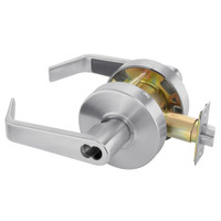 B-AU4605LN-626 Yale 4600LN Series Single Cylinder Storeroom or Closet Cylindrical Lock with Augusta Lever Prepped for SFIC in Satin Chrome