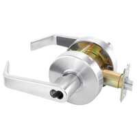 B-AU4605LN-625 Yale 4600LN Series Single Cylinder Storeroom or Closet Cylindrical Lock with Augusta Lever Prepped for SFIC in Bright Chrome