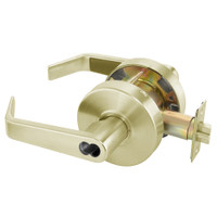 B-AU4607LN-606 Yale 4600LN Series Single Cylinder Entry Cylindrical Lock with Augusta Lever Prepped for SFIC in Satin Brass