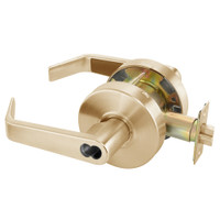 B-AU4608LN-612 Yale 4600LN Series Single Cylinder Classroom Cylindrical Lock with Augusta Lever Prepped for SFIC in Satin Bronze