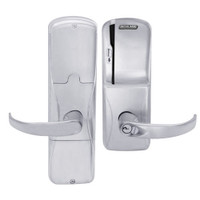 AD200-MD-40-MS-SPA-GD-29R-626 Schlage Privacy Mortise Deadbolt Magnetic Stripe(Swipe) Lock with Sparta Lever in Satin Chrome