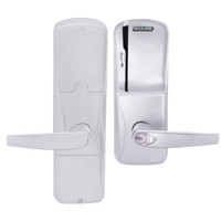 AD200-MD-40-MS-ATH-GD-29R-626 Schlage Privacy Mortise Deadbolt Magnetic Stripe(Swipe) Lock with Athens Lever in Satin Chrome