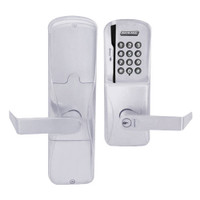 AD200-MD-40-MSK-RHO-GD-29R-626 Schlage Privacy Mortise Deadbolt Magnetic Stripe Keypad Lock with Rhodes Lever in Satin Chrome