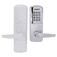 AD200-MD-40-MSK-ATH-GD-29R-626 Schlage Privacy Mortise Deadbolt Magnetic Stripe Keypad Lock with Athens Lever in Satin Chrome