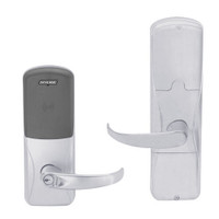 AD200-MD-40-MT-SPA-GD-29R-626 Schlage Privacy Mortise Deadbolt Multi-Technology Lock with Sparta Lever in Satin Chrome