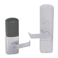 AD200-MD-40-MT-RHO-GD-29R-626 Schlage Privacy Mortise Deadbolt Multi-Technology Lock with Rhodes Lever in Satin Chrome