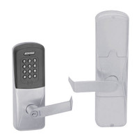 AD200-MD-40-MTK-RHO-GD-29R-626 Schlage Privacy Mortise Deadbolt Multi-Technology Keypad Lock with Rhodes Lever in Satin Chrome