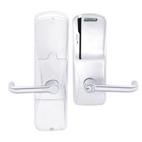 AD200-MD-60-MS-TLR-GD-29R-625 Schlage Apartment Mortise Deadbolt Magnetic Stripe(Swipe) Lock with Tubular Lever in Bright Chrome