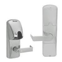 AD200-MD-60-MG-RHO-GD-29R-619 Schlage Apartment Mortise Deadbolt Magnetic Stripe(Insert) Lock with Rhodes Lever in Satin Nickel