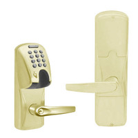 AD200-MD-40-MGK-ATH-PD-606 Schlage Privacy Mortise Deadbolt Magnetic Stripe(Insert) Keypad Lock with Athens Lever in Satin Brass