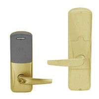 AD200-MD-40-MT-ATH-PD-606 Schlage Privacy Mortise Deadbolt Multi-Technology Lock with Athens Lever in Satin Brass