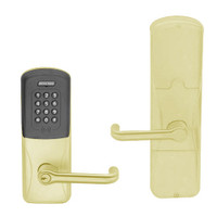 AD200-MD-60-MTK-TLR-PD-606 Schlage Apartment Mortise Deadbolt Multi-Technology Keypad Lock with Tubular Lever in Satin Brass