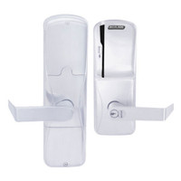 AD250-MD-60-MS-RHO-GD-29R-625 Schlage Apartment Magnetic Stripe(Swipe) Lock with Rhodes Lever in Bright Chrome