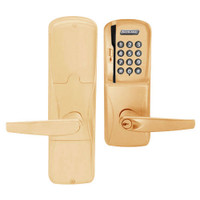 AD250-MD-40-MSK-ATH-PD-612 Schlage Privacy Magnetic Stripe Keypad Lock with Athens Lever in Satin Bronze