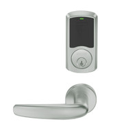 LEMB-GRW-P-07-619-00C Schlage Privacy/Office Wireless Greenwich Mortise Lock with Push Button & LED Indicator and Athens Lever in Satin Nickel