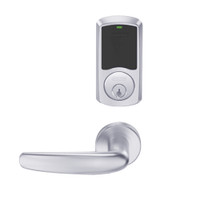 LEMB-GRW-P-07-625-00C Schlage Privacy/Office Wireless Greenwich Mortise Lock with Push Button & LED Indicator and Athens Lever in Bright Chrome