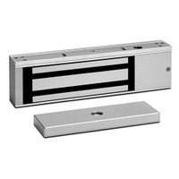 E1200 SDC Excel Series Value Engineered Magnetic Locks 1200lb Holding Force with Door Status Locked Status and LED in Clear Anodized Aluminum