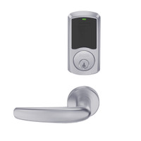 LEMD-GRW-P-07-626-00C Schlage Privacy/Apartment Wireless Greenwich Mortise Deadbolt Lock with LED and Athens Lever in Satin Chrome