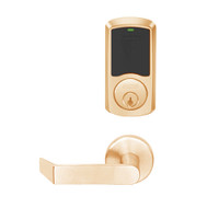 LEMD-GRW-P-06-612-00A Schlage Privacy/Apartment Wireless Greenwich Mortise Deadbolt Lock with LED and Rhodes Lever in Satin Bronze
