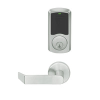 LEMD-GRW-P-06-619-00A Schlage Privacy/Apartment Wireless Greenwich Mortise Deadbolt Lock with LED and Rhodes Lever in Satin Nickel