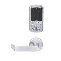 LEMD-GRW-P-06-626-00C Schlage Privacy/Apartment Wireless Greenwich Mortise Deadbolt Lock with LED and Rhodes Lever in Satin Chrome