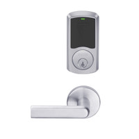 LEMD-GRW-P-01-626-00B Schlage Privacy/Apartment Wireless Greenwich Mortise Deadbolt Lock with LED and 01 Lever in Satin Chrome