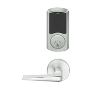 LEMD-GRW-P-05-619-00A Schlage Privacy/Apartment Wireless Greenwich Mortise Deadbolt Lock with LED and 05 Lever in Satin Nickel