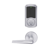 LEMD-GRW-P-05-626-00A Schlage Privacy/Apartment Wireless Greenwich Mortise Deadbolt Lock with LED and 05 Lever in Satin Chrome