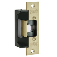 45-4SDK-RMB SDC 45 Series Field Selectable Multi-Frame-Application Electric Strike with Buzzer 12/24V AC/DC Operation in Dull Brass
