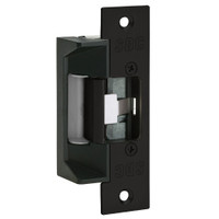 45-4RYK SDC 45 Series Field Selectable Multi-Frame-Application Electric Strike with Keeper Open/Closed Status in Black Anodized