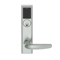 LEMS-ADD-P-07-619 Schlage Storeroom Wireless Addison Mortise Lock with LED and Athens Lever in Satin Nickel