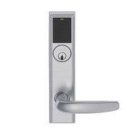 LEMS-ADD-P-07-626 Schlage Storeroom Wireless Addison Mortise Lock with LED and Athens Lever in Satin Chrome