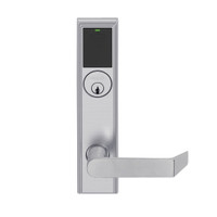 LEMS-ADD-P-06-626 Schlage Storeroom Wireless Addison Mortise Lock with LED and Rhodes Lever in Satin Chrome