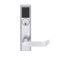 LEMS-ADD-P-06-626AM Schlage Storeroom Wireless Addison Mortise Lock with LED and Rhodes Lever in Satin Chrome Antimicrobial