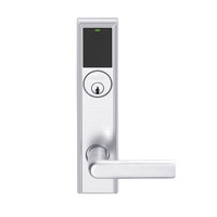LEMS-ADD-P-01-625 Schlage Storeroom Wireless Addison Mortise Lock with LED and 01 Lever in Bright Chrome